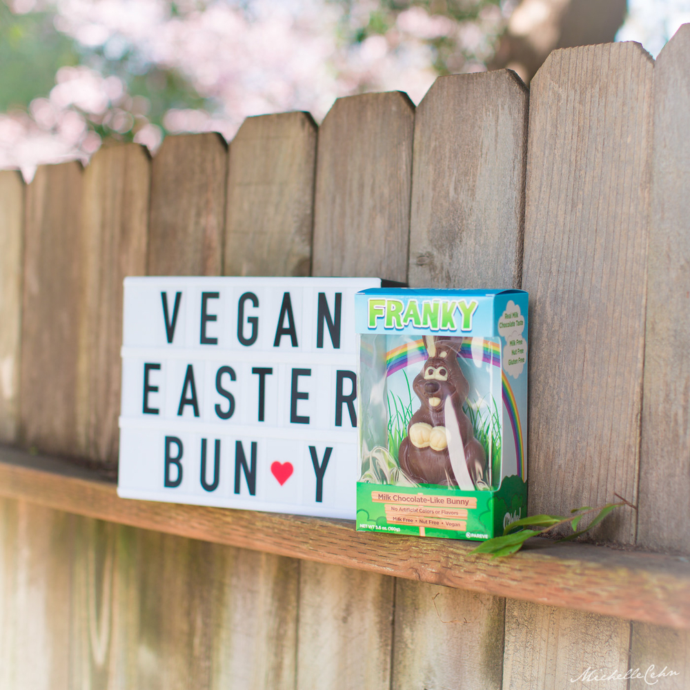 Vegan Chocolate Easter Bunny from No Whey Foods | WorldofVegan.com #vegan #easter #vegetarian #dairyfree #chocolate #holiday #spring #bunny