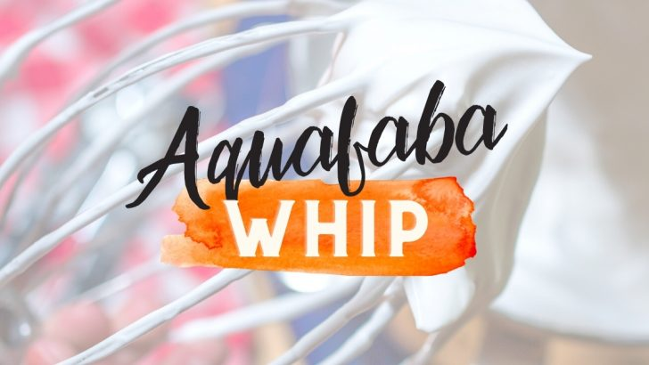 Aquafaba Whipped Cream