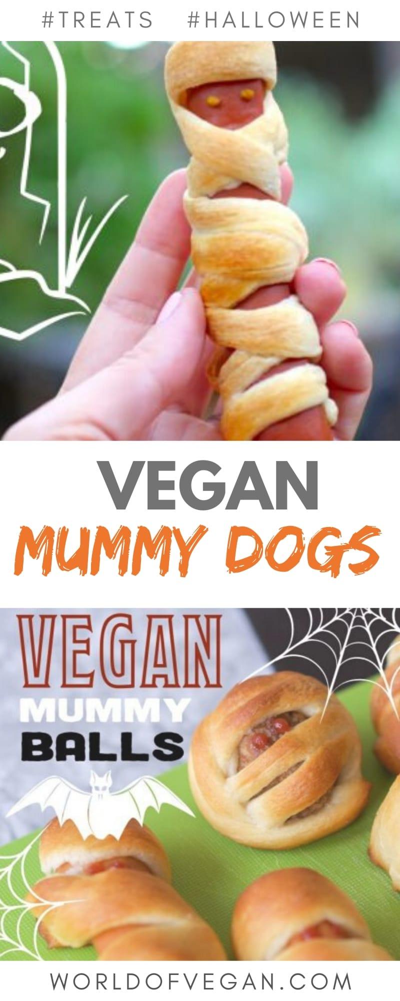 Vegan Mummy Dogs   Halloween Treats   World of Vegan   #vegan #treats #halloween #recipe #sausages #meatballs #worldofvegan