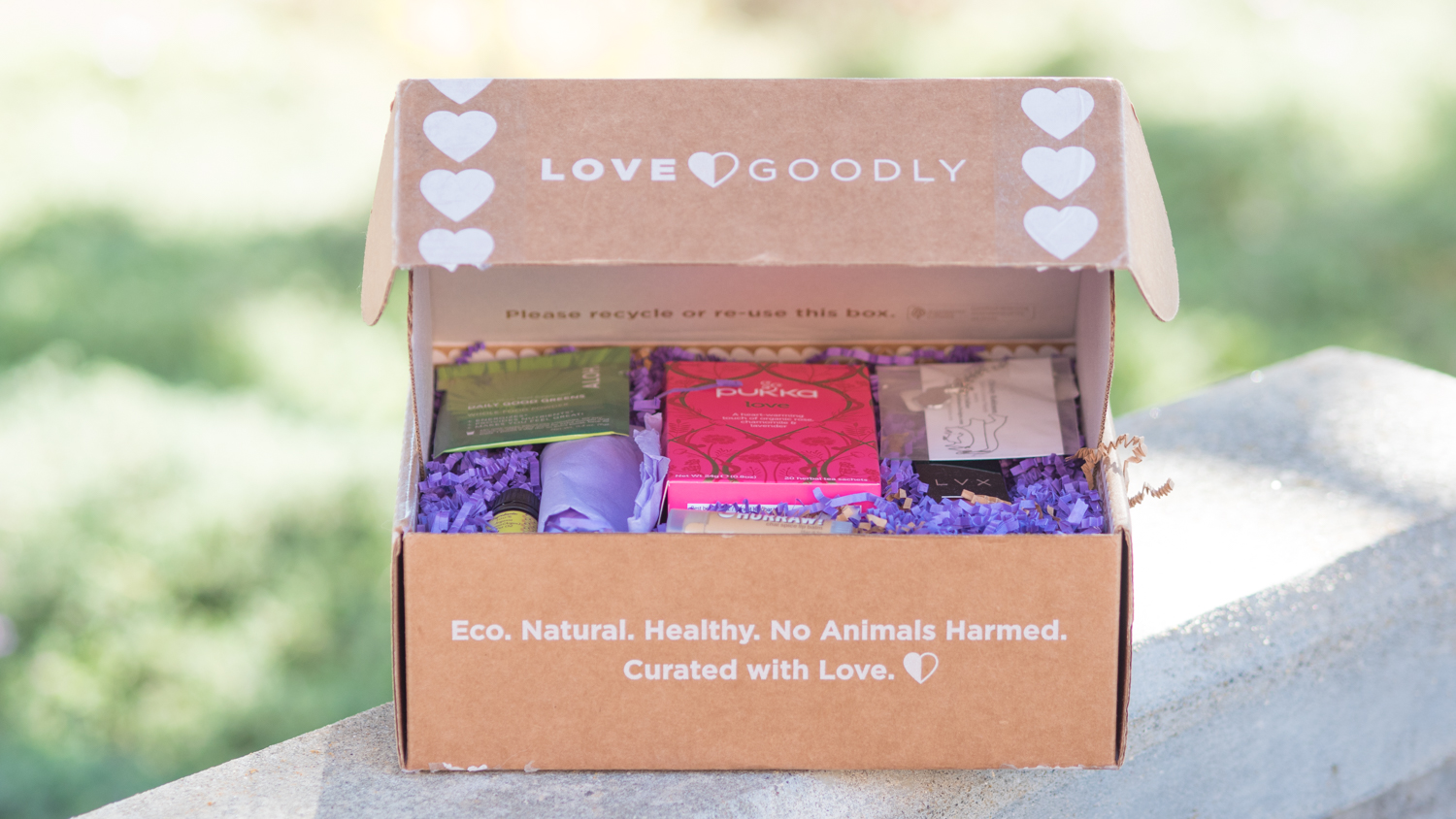 Love Goodly vegan subscription box