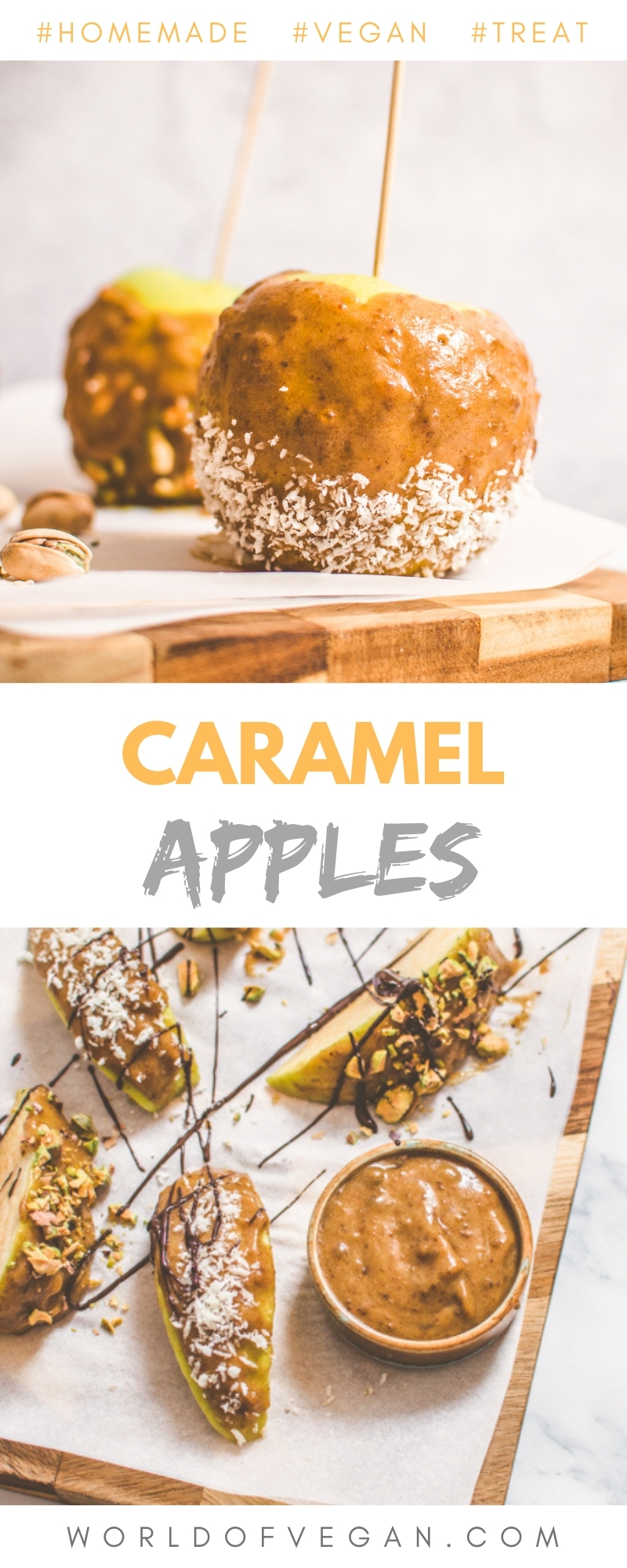 Homemade Caramel Apples Pinterest Long Graphic