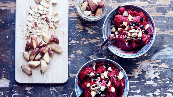 Minimalist Mango Berry Nice Cream