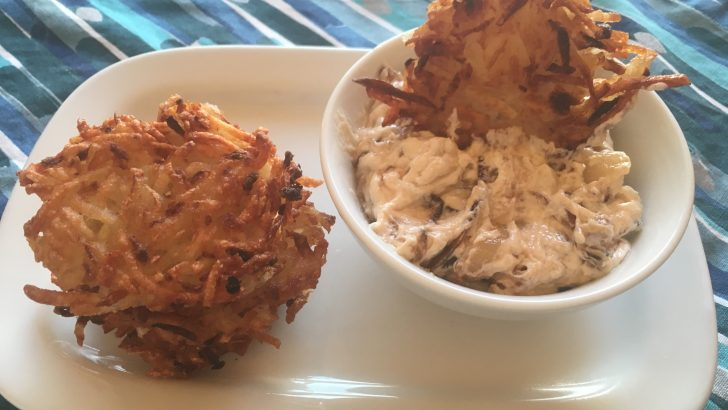 Chip & Dip Vegan Latke Recipe