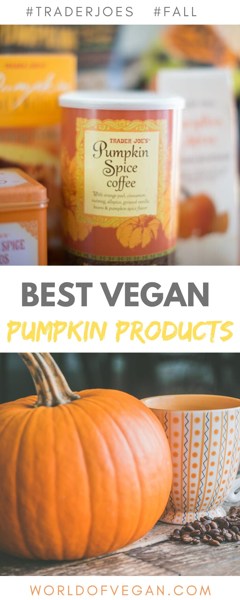 10 Best Vegan Pumpkin Products at Trader Joe's | World of Vegan | #pumpkin #vegan #products #tradejoes #shopping #guide #worldofvegan