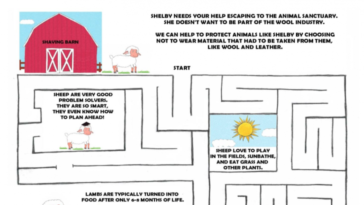 Vegan Kids Activity Book & Printable Maze!
