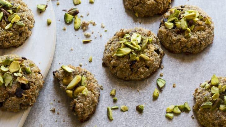 Lemon Pistachio Quinoa Cookies