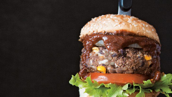 Barbecue Black Bean Burgers & Homemade BBQ Sauce