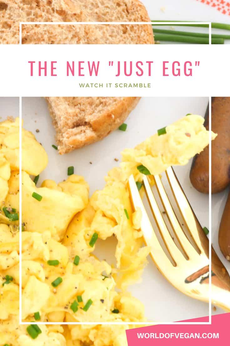 Vegan Scrambled Eggs Are Here! | Meet The New Just Egg | WorldofVegan.com | #vegan #eggs #scramble #breakfast #recipe