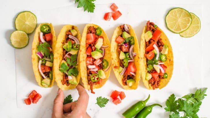 Meat Lover's Beefy Vegan Tacos