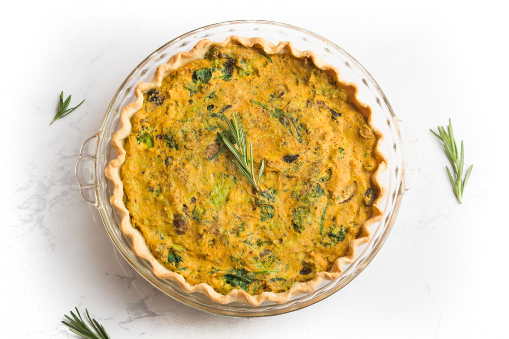 Easy Vegan Quiche Recipe | WorldofVegan.com | #vegan #recipe #quiche #tofu