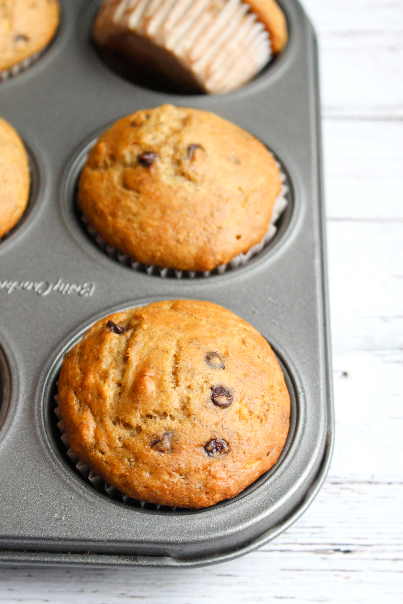 Chocolate Chip Banana Muffins | World of Vegan