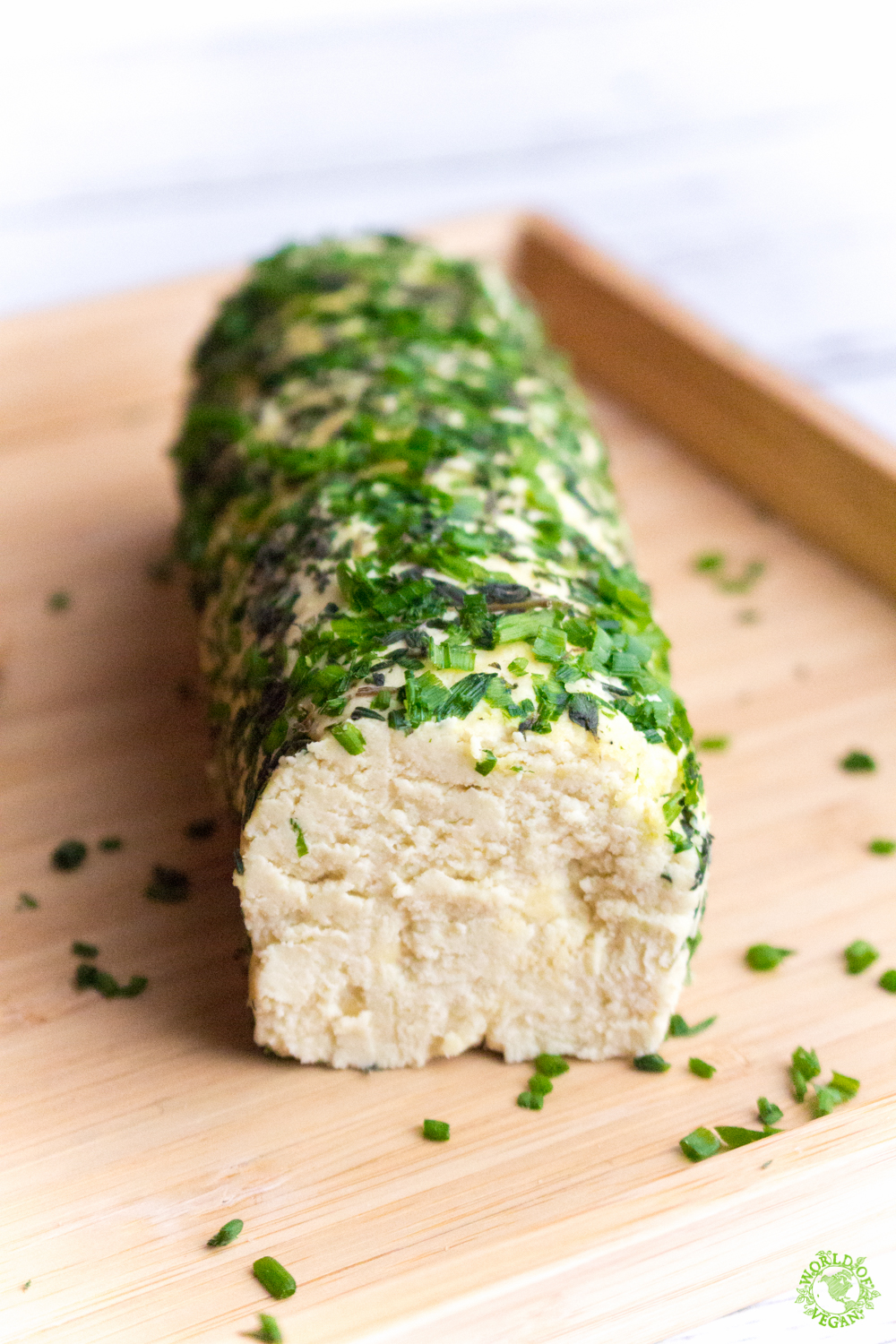 Vegan Cheese Log | Holiday Recipe | WorldofVegan.com | #vegan #cheese #holiday #plantbased