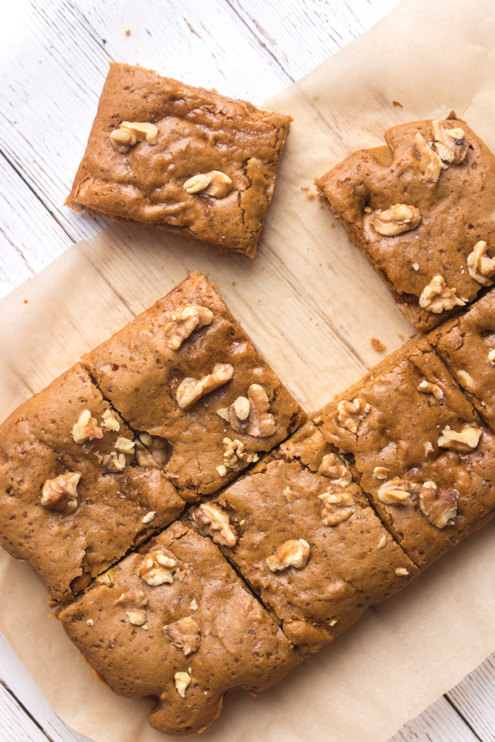 Easy Vegan Blondies | Walnut Maple Spice Blondie Recipe | WorldofVegan.com