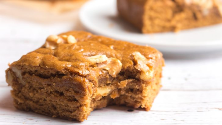 Vegan Maple Walnut Blondies