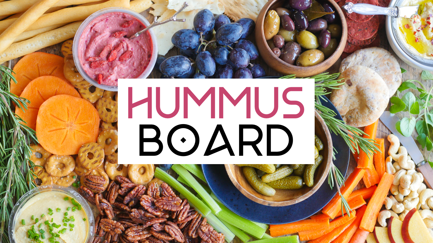 DIY Vegan Hummus Board | World of Vegan