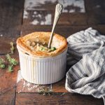 Vegan Chicken Pot Pie Recipe | Vegan Recipe for Carnivores | WorldofVegan.com | #veganpie #carnivorefriendly #vegancookbook #vegan #pie