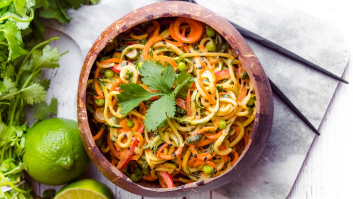 Asian Zucchini Noodle Bowl