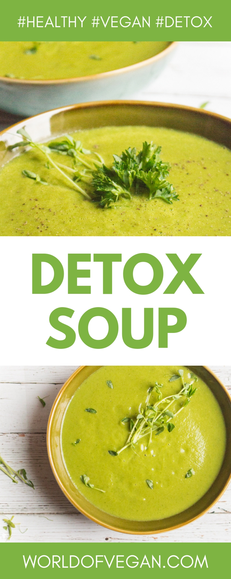 Cleansing Soup | Green Detox Soup | World of Vegan | #vegan #soup #detox #cleanse #healthy #parsley