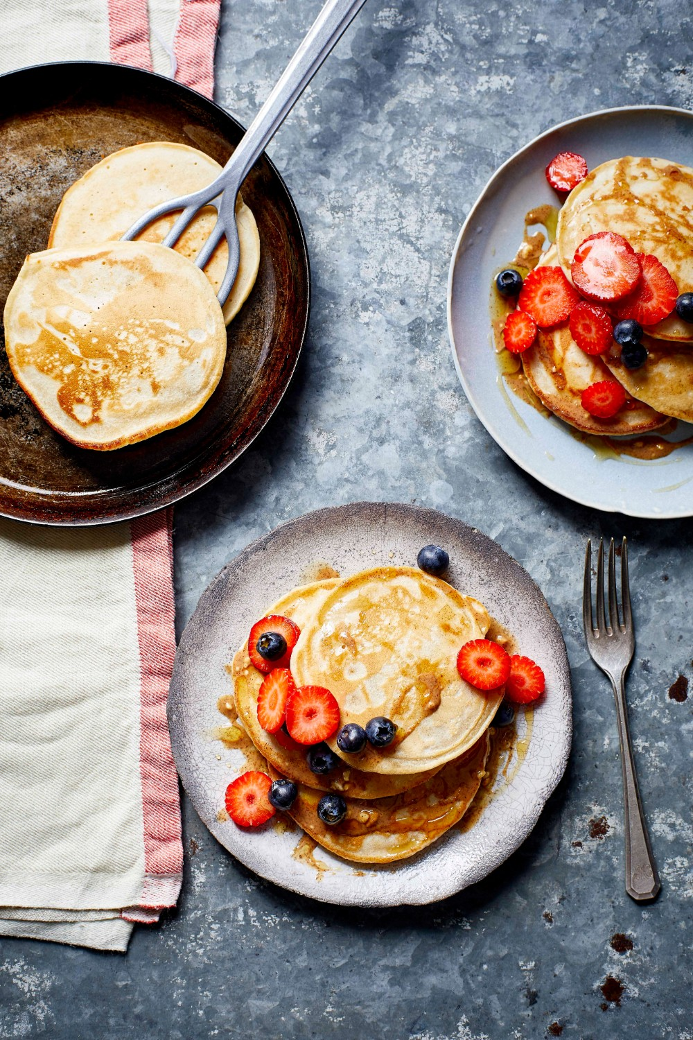 Easy Vegan Pancakes | What Vegans Eat Cookbook | WorldofVegan.com | #pancakes #breakfast #brunch #easyrecipes #vegan