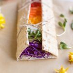 Rainbow Wraps | Hummus on California Lavash With Colorful Veggies | WorldofVegan.com | #vegan #vegetarian #rainbow #pride #healthy