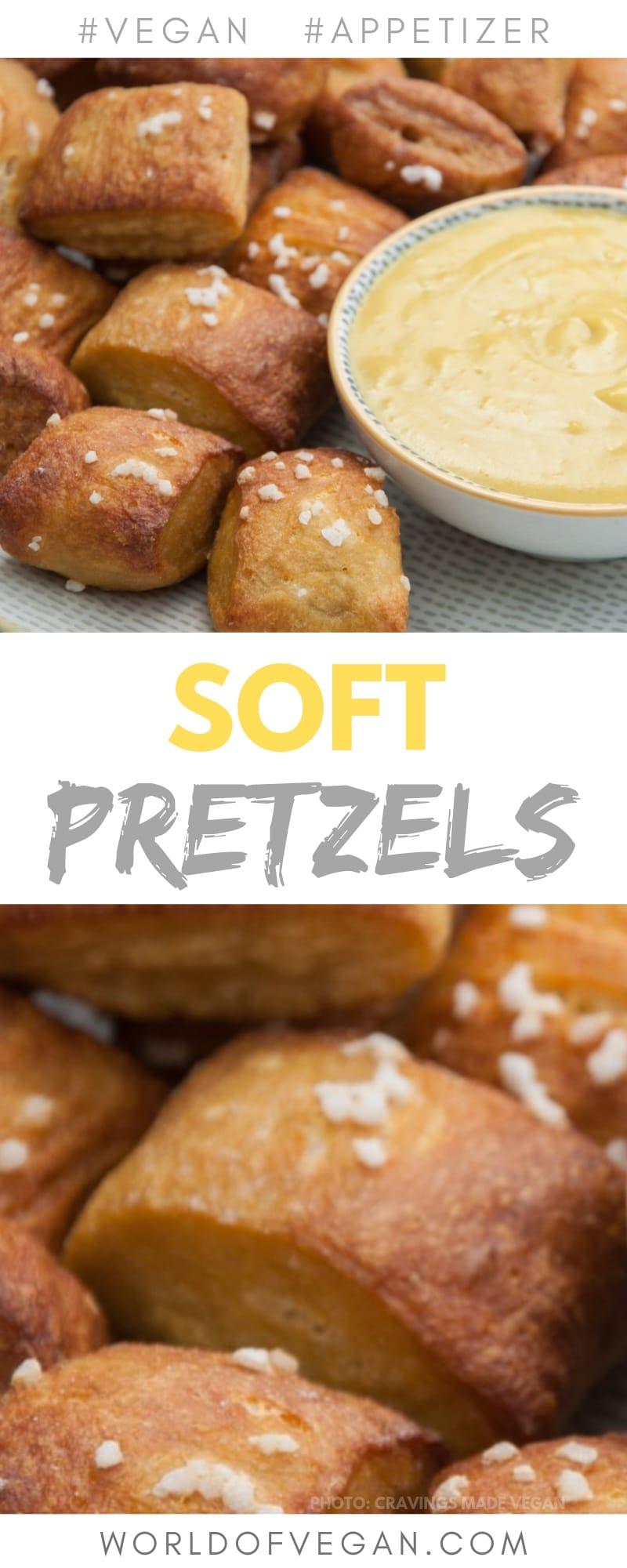 Vegan Soft Pretzels with Cheese Dip | Easy Appetizer Recipe | World of Vegan | #pretzels #cravings #snack #dip #cheese #worldofvegan