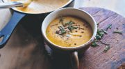 Easy Vegan Squash & Cauliflower Soup