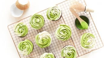 Vegan Cupcakes With Matcha Buttercream Frosting