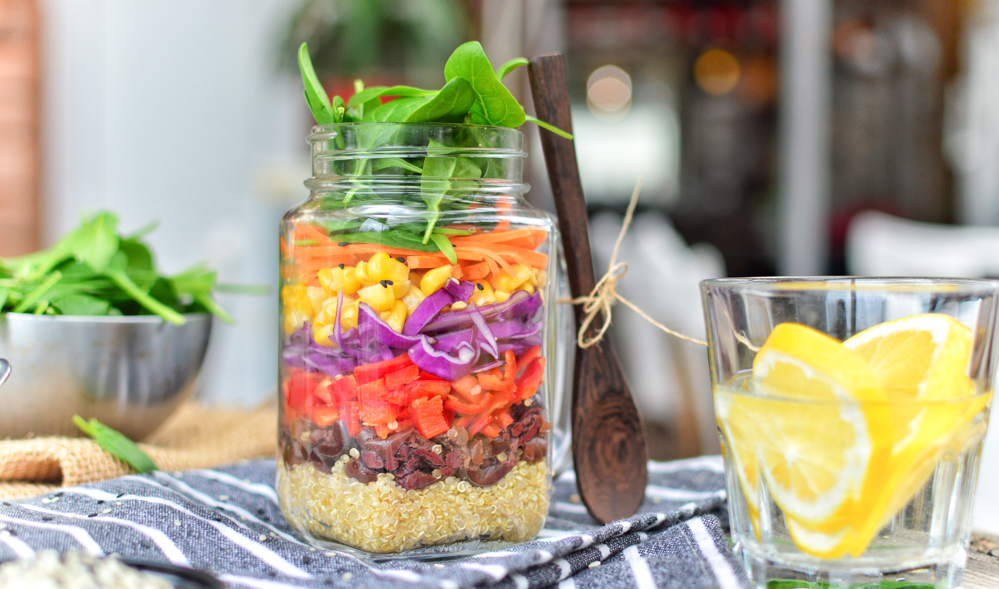Rainbow Salad in a Jar | Zero Waste Lunch Idea | World of Vegan | #vegan #zerowaste #healthy #salad