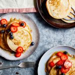 Vegan Pancakes | Easy Breakfast Recipe | WorldofVegan.com | #vegan #breakfast #recipe #brunch #pancakes