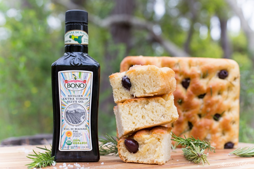 Extra Virgin Olive Oil Focaccia Bread | WorldofVegan.com | #vegan #focaccia #bread #worldofvegan