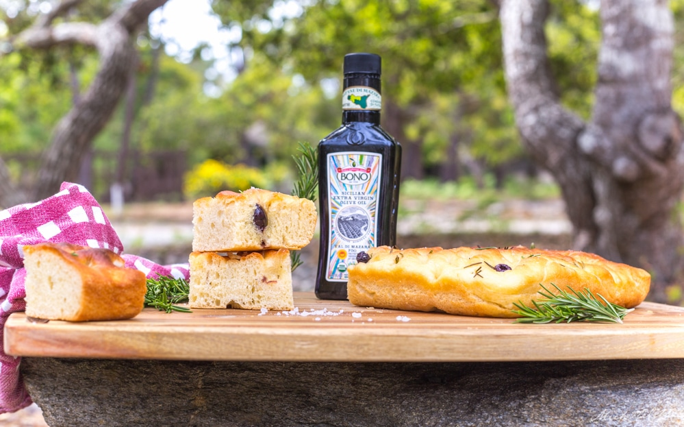 Olive Rosemary Focaccia Bread Recipe | WorldofVegan.com #vegan #bread #recipe #focaccia #worldofvegan