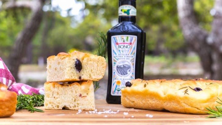 Rosemary & Olive Focaccia Bread