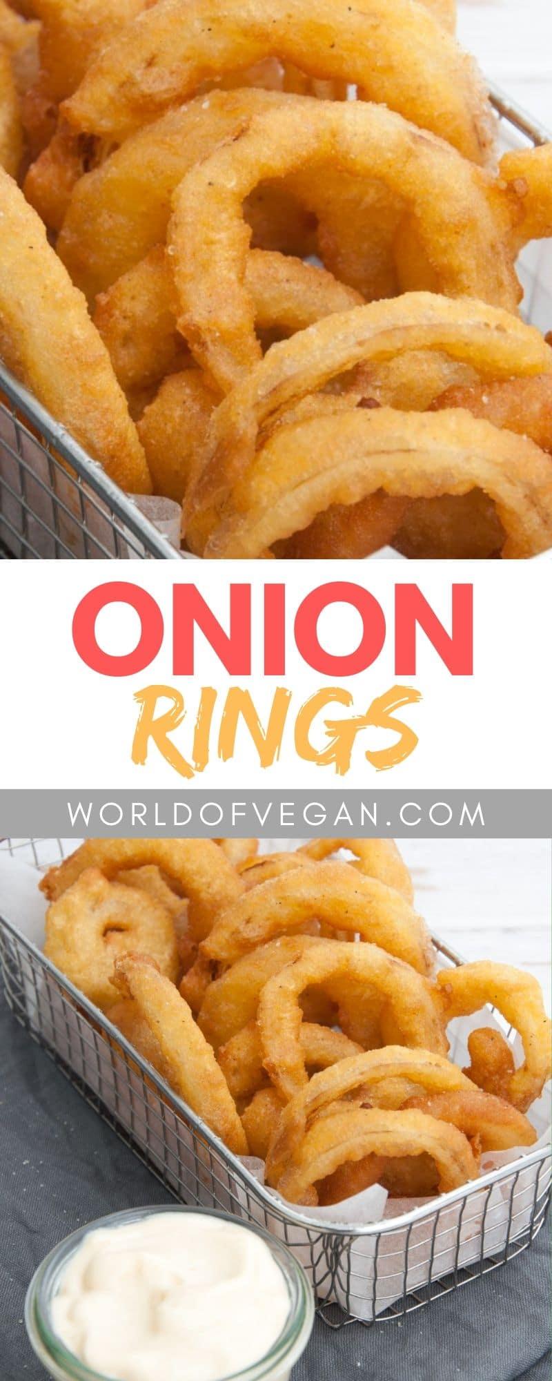 Onion Rings | Vegan Cravings | WorldofVegan.com | #vegan #appetizer #party #summer #holidays #worldofvegan