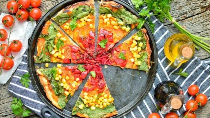 Vegan Rainbow Pizza