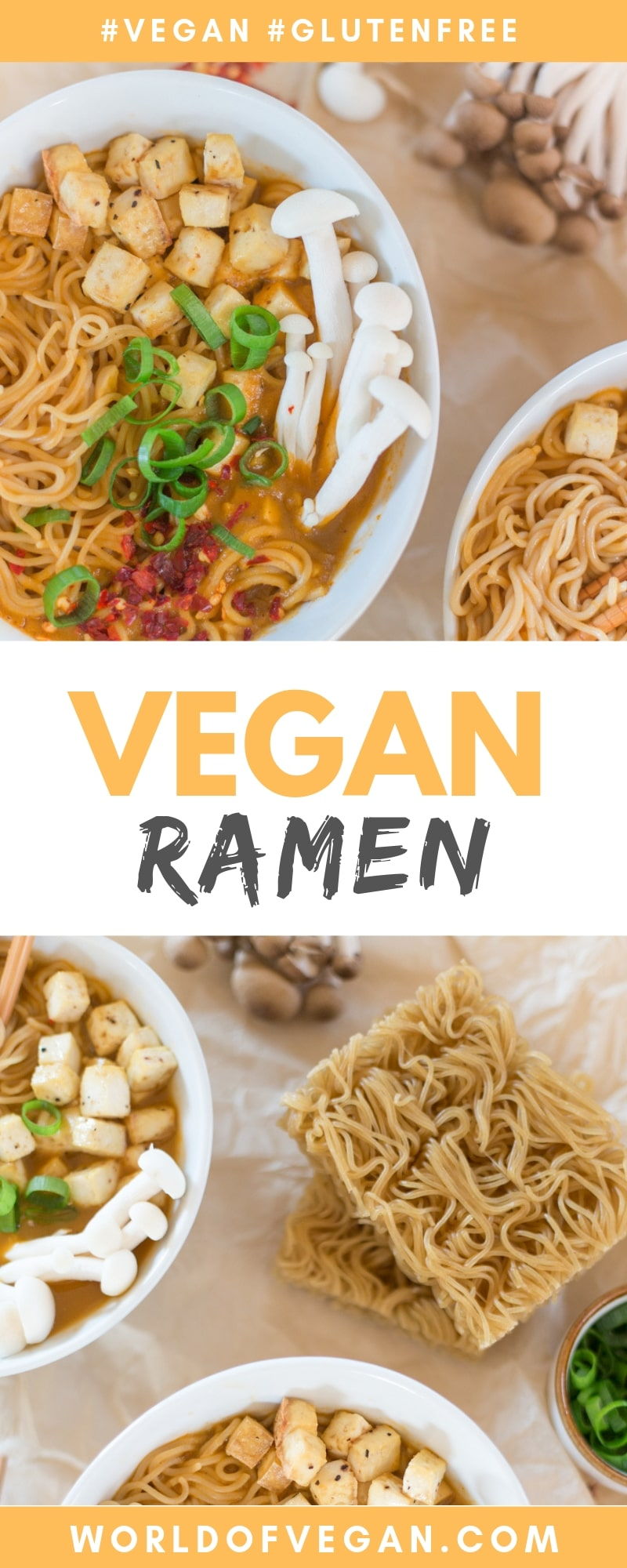 Vegan Ramen With Brown Rice Noodles | WorldofVegan.com #vegan #glutenfree #ramen #soup #recipe #dairyfree #worldofvegan