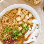 Easy Vegan Ramen Noodle Soup Recipe   WorldofVegan.com #ramen #vegan #soup #worldofvegan #vegetarian #food #recipe