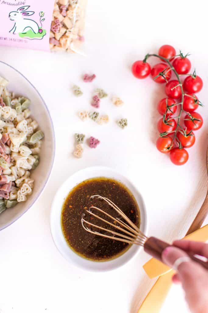 Vegan Pasta Salad Vinaigrette | WorldofVegan.com