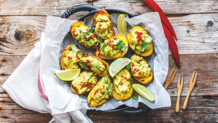 Grilled Potato Skins With Guacamole
