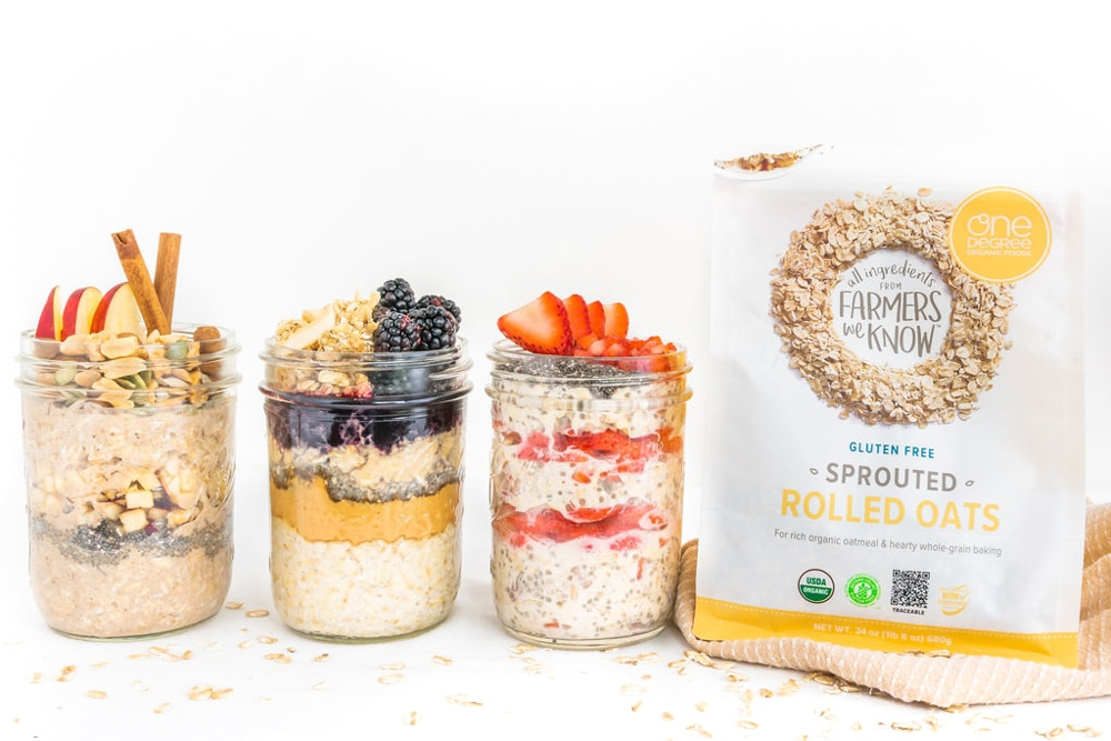 Overnight Oats—3 Ways! | World of Vegan | #vegan #breakfast #oats #oatmeal #vegetarian #healthy