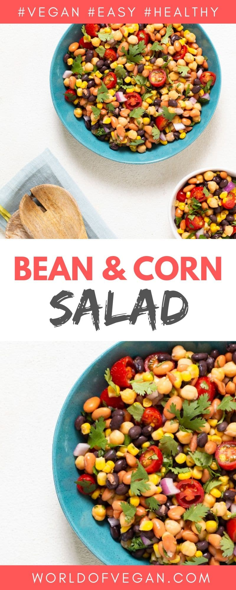 Bean & Corn Salad | WorldofVegan.com #vegan #vegetarian #recipe #healthy #mexican