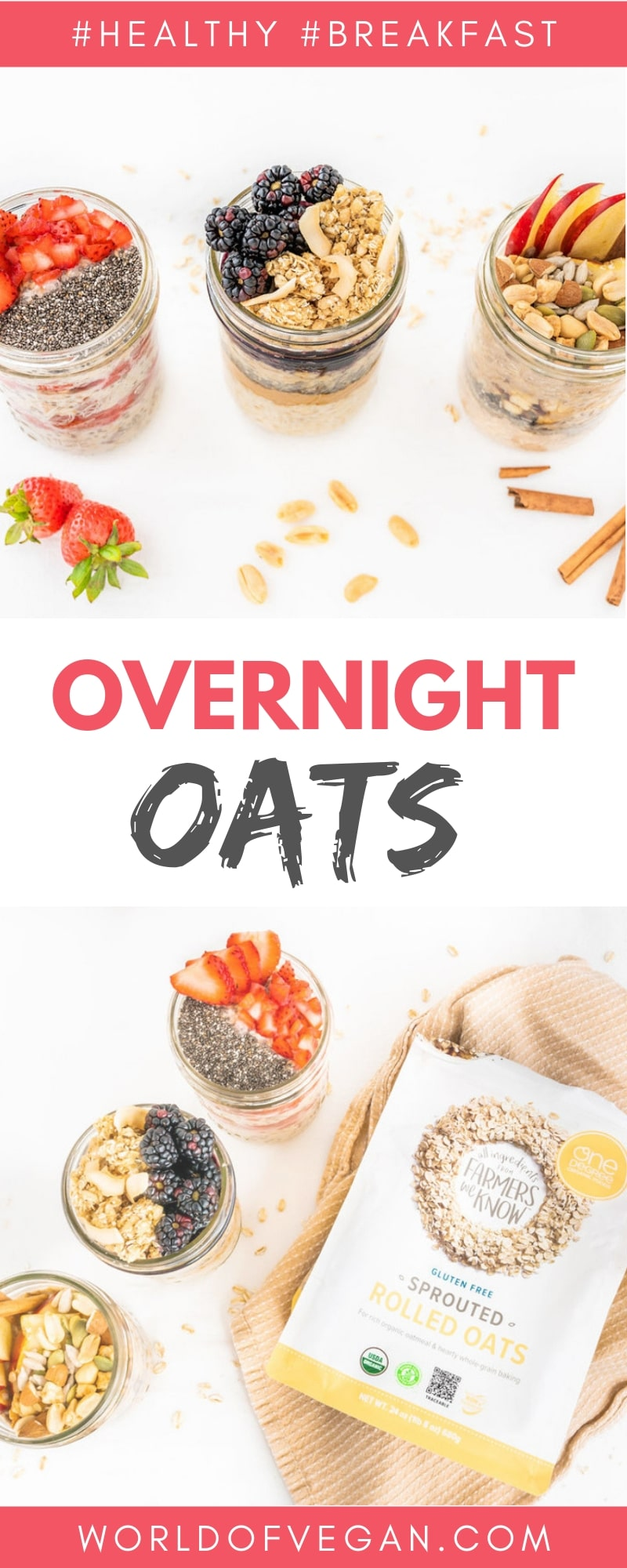 Overnight Oats 3 Ways World of Vegan
