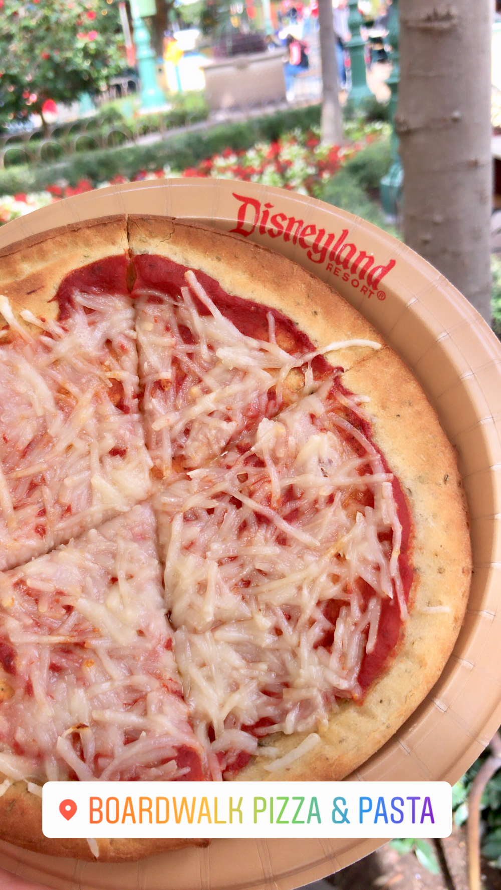 Vegan Pizza at California Adventure Disneyland | WorldofVegan.com #disneyland #california #vegan #worldofvegan