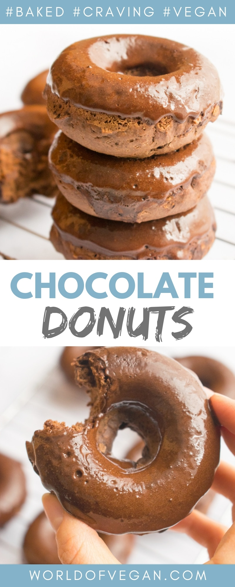 Double Chocolate Donuts—Made Vegan! | World of Vegan | #donuts #vegan #chocolate #dessert #party #worldofvegan