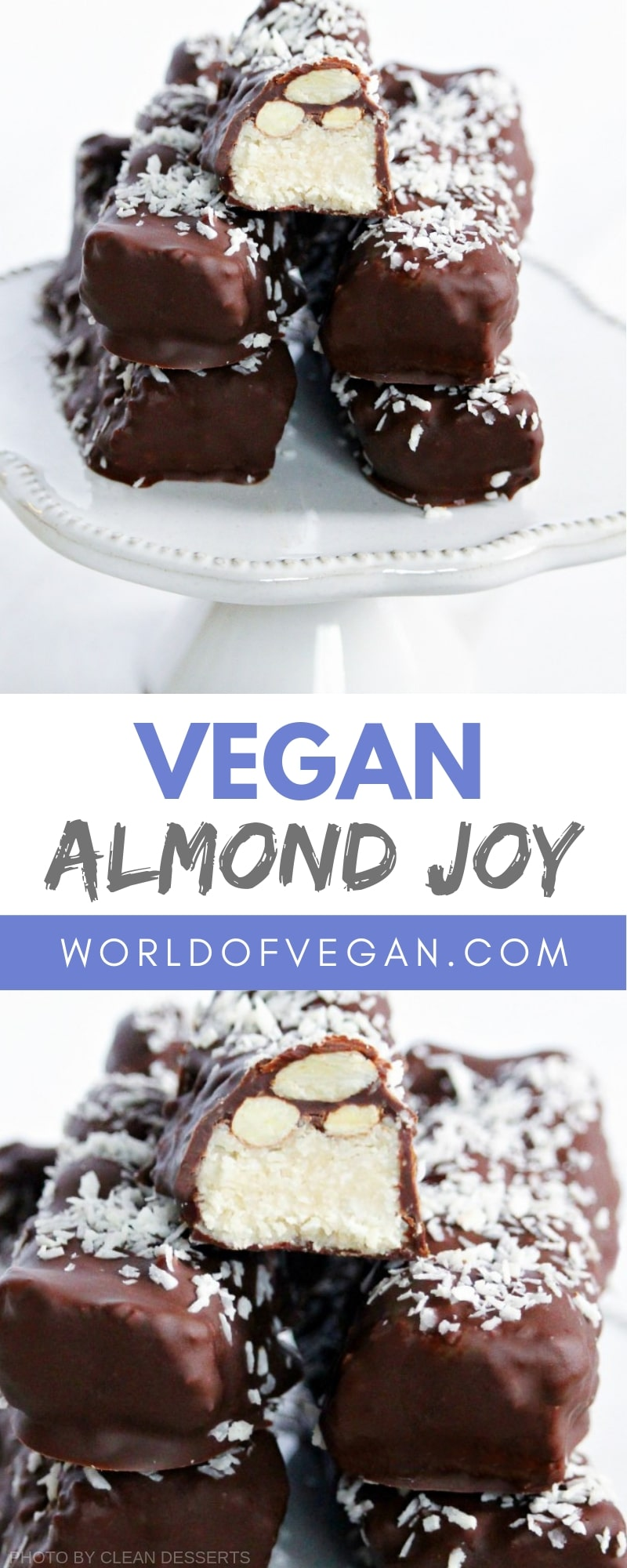 Vegan Almond Joy Bars Recipe | Vegan Dessert | World of Vegan | #almond #dessert #candy #bar #coconut #almonjoy #vegan #worldofvegan