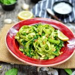 Vegan Pesto Pasta | Vegan Pesto Recipe | WorldofVegan.com | #italian #pesto #vegan #easy #recipe #pasta #basil #worldofvegan