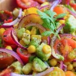 Fresh Summer Tomato Salad Recipe | Easy Vegan Side | World of Vegan | #summer #salad #tomato #avocado #fresh #worldofvegan