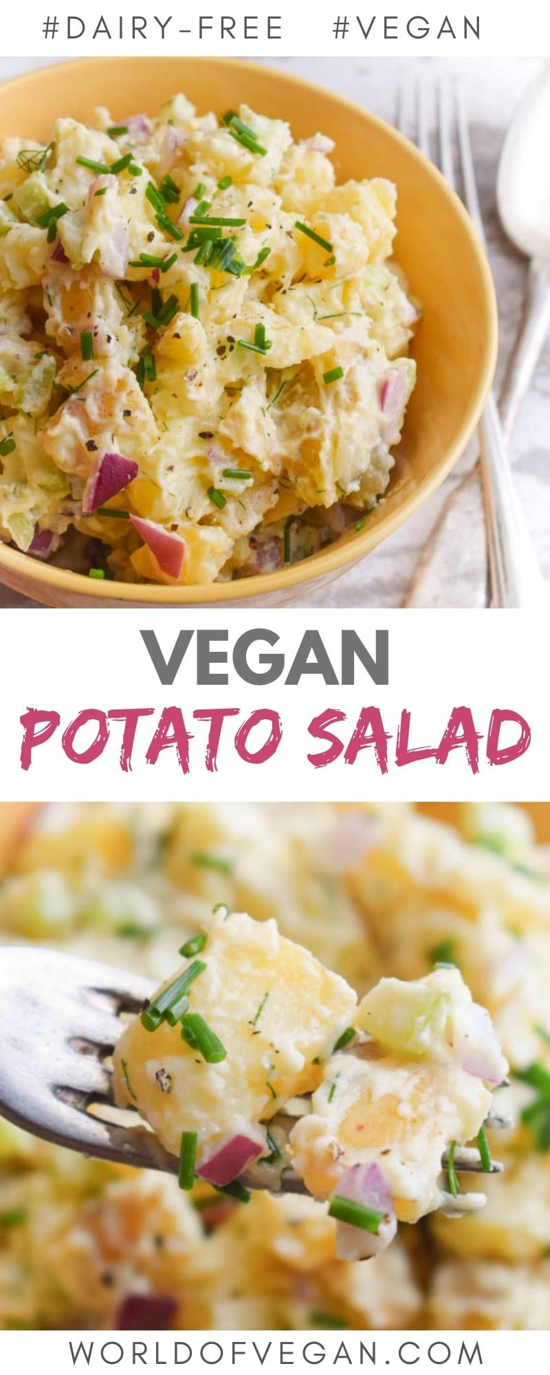 Vegan Potato Salad Recipe | World of Vegan | #vegan #potatoes #salad #picnic #barbecue #easy #glutenfree #worldofvegan