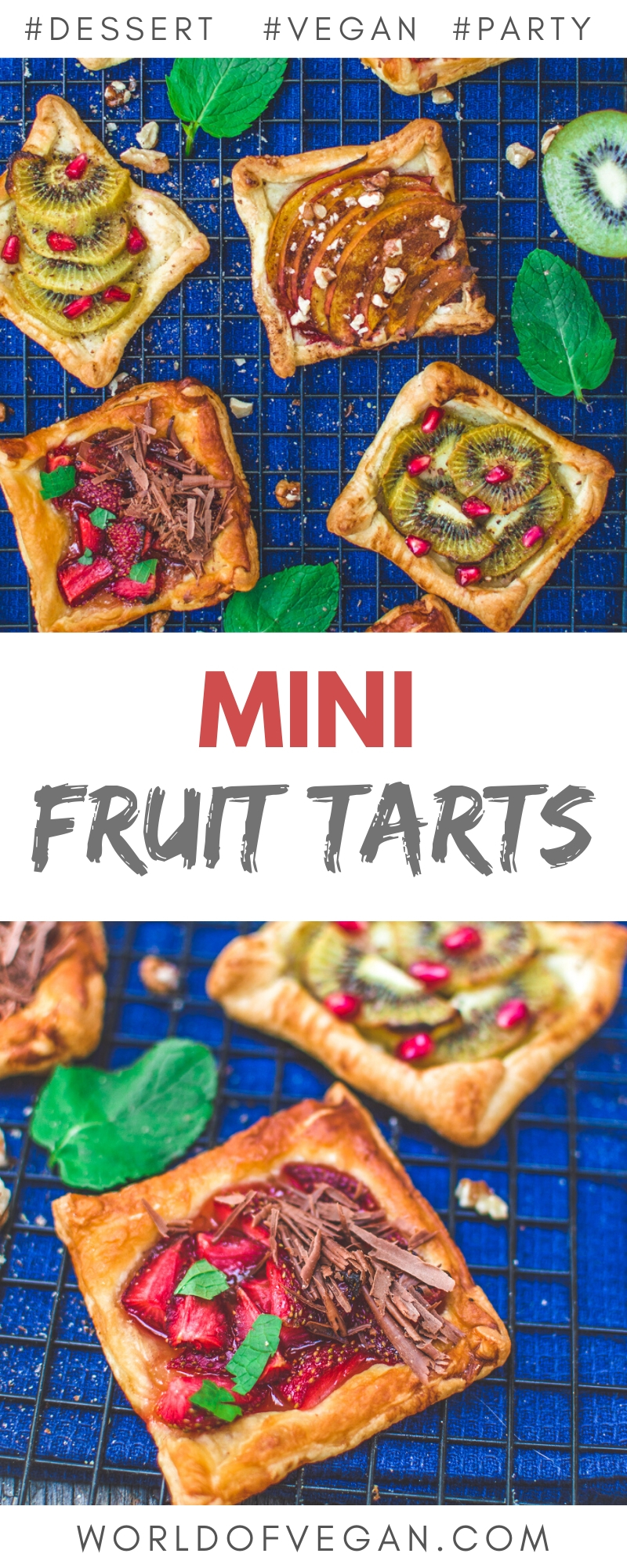 Mini Vegan Fruit Tarts | Easy Dessert Recipe | World of Vegan | #vegan #tarts #fruits #fruits #dessert #worldofvegan