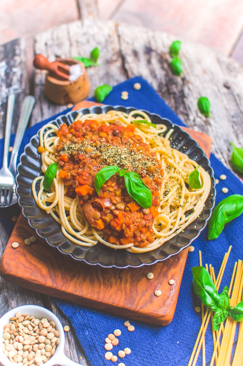 Vegan Lentil Bolognese Pasta Recipe | Protein-Packed Sauce | World of Vegan | #bolognese #vegan #sauce #pasta #protein #italian #dinner #worldofvegan