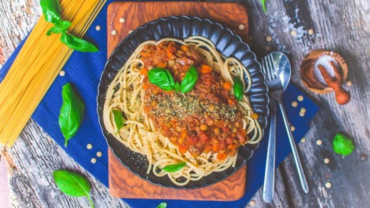 Easy Lentil Bolognese Sauce